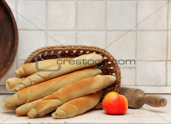 Appetizing homemade bread