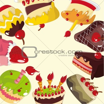 cute cartoon cake card