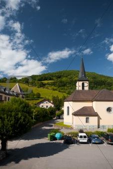 Sleepy French Village Church