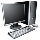 Desktop computer.