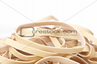 A tan rubber band
