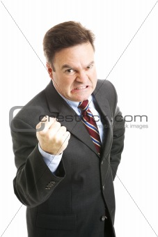 Businessman - Angry Threatening