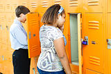 Middle School Students at Lockers