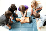 Teenagers Practice CPR