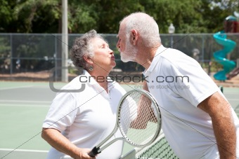 Tennis Seniors Kiss