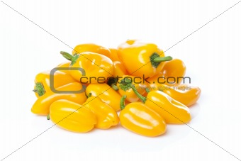 A yellow baby pepper