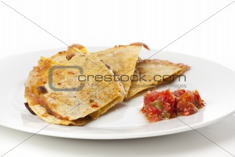 A cheese quesadilla