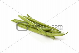 A fresh green string bean