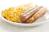 hot dog with mac and cheese
