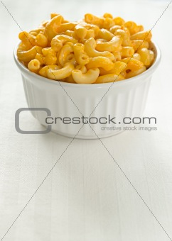 macaroni and cheese with extra space
