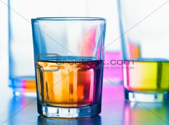 abstract glasses with liquid