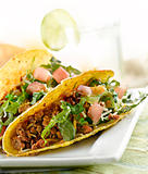 closeup taco meal
