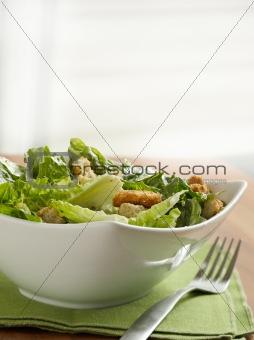 Caesar salad with copyspace