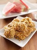 fried chicken and watermelon