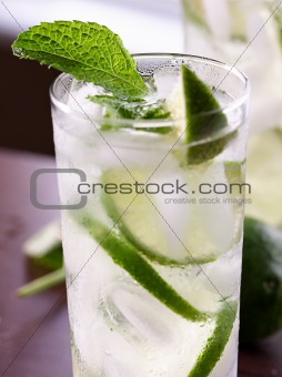 single mojito closeup