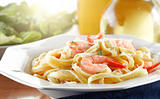 Tasty Shrimp Fettuccine Alfredo