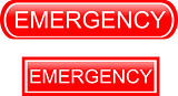 Emergency sign icon isolated on white background