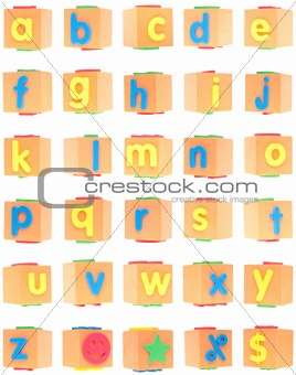 Alphabet Set on Foam Blocks