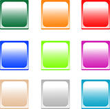 set of colored empty shiny button box icon