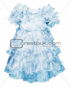 A little blue dress for girls