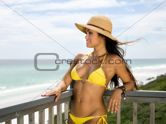 Attractive Woman Sunbathing