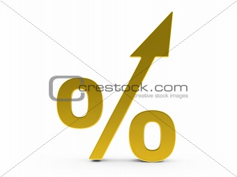 3d Gold Percent increase