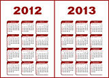 Calendar 2012,2013.