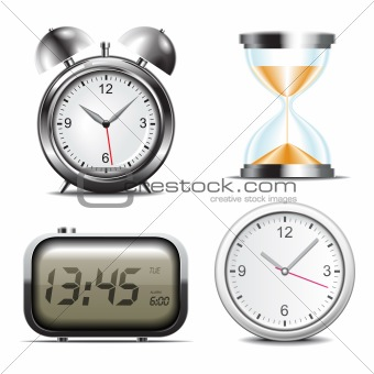 Clock vector icons