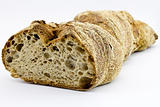 Fresh german bread on light background