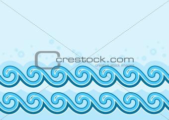 waves border