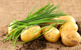 potatoes and chives