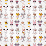 cartoon animal chef seamless pattern