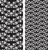 Set of seamless roses pattern, templates