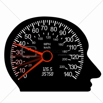 car speedometer in the human brain