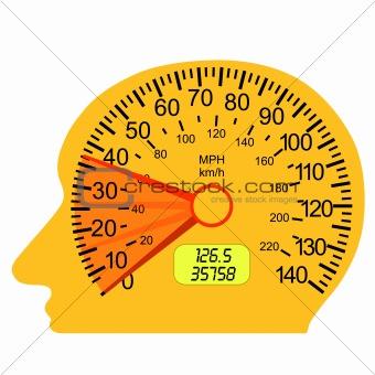 car speedometer in the human brain