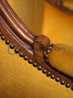 Armrest of antique chair