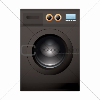 Black washing machine