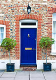 blue front door