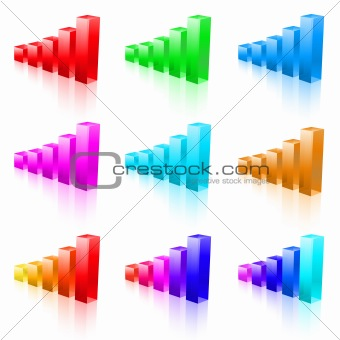 Abstract vector bar graphs