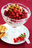 Yogurt with caramelized berries