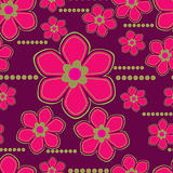 Vector Seamless floral pattern with lilly flower
