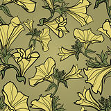 Vector bell-flowers pattern