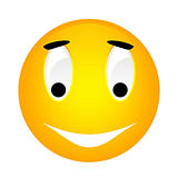 Vector smiley yellow emoticon