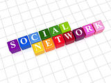 social network - rainbow