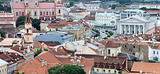 Vilnius old town panoramic view