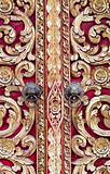 Thai carved doors