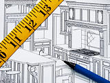 Planning a renovation in the kitchen with the floor plan