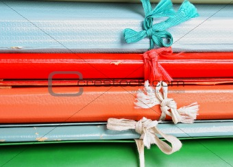 Folders with bows