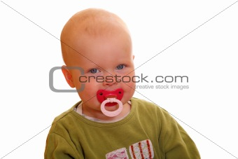 Toddler with pacifier