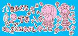 Back to school doodle Hand-Drawn BTS Sketchy Doodles school scra